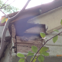 Deteriorated gable end