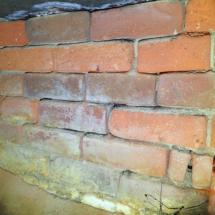 Fretting to brickwork